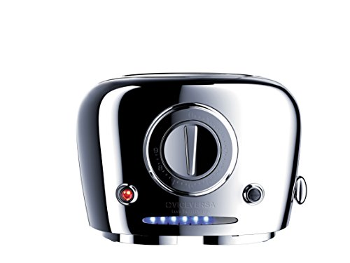 Viceversa 2135071 Tix Pop-up-Toaster, verchromt