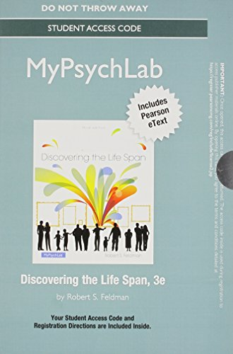 NEW MyLab Psychology with Pearson eText -- Standalone Access Card -- for Discovering the Life Span (3rd Edition)