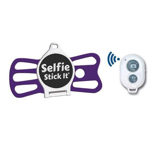 Hands Free Anti Gravity Universal Phone Holder That Sticks to Anything, Take The Perfect Selfie, Mount on Any Surface and Watch Videos or TikTok, Includes Bonus Bluetooth Remote for Photos (Purple)