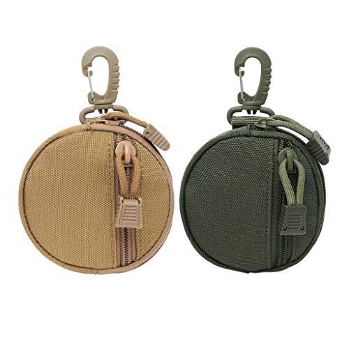 Sharplace 2pcs Molle Gadget Pouch Accesorio Bolsas para Auriculares Monedero Monedero
