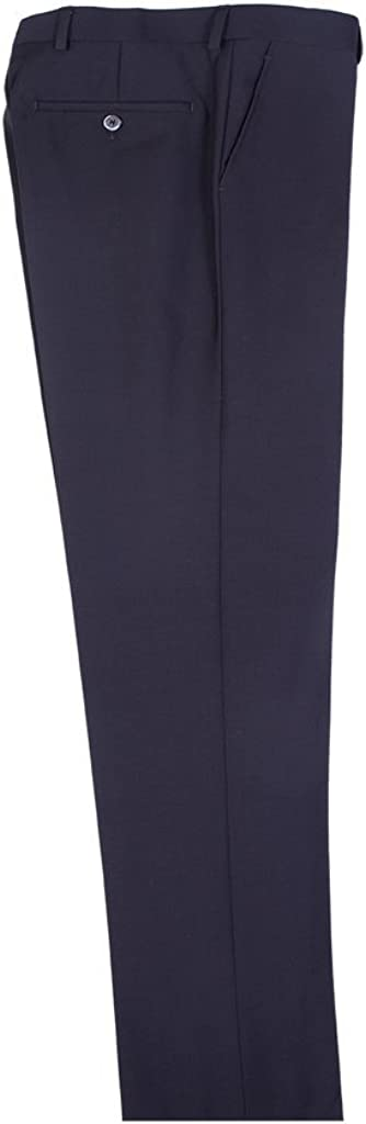 Tiglio Omaha Mall Luxe Black Finally popular brand Flat Front Modern Pure Fit Dress Pants Wool