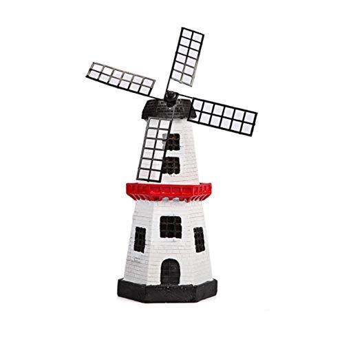 TOMMY LAMBERT Solar-LED-Licht, kreatives Kunstharz, Windmühle, Form-Statuen, Dekoration für den Außenbereich, Hof, Garten, Landschaft, Dekoration