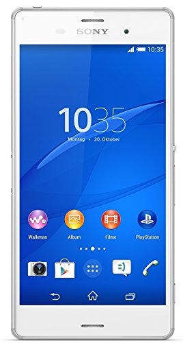 "Sony Xperia Z3 - Smartphone (13,21 cm (5.2""), 1920 x 1080 Pixeles, TFT, 2,5 GHz, Qualcomm Snapdragon, 3072 MB) Color blanco (importado)"