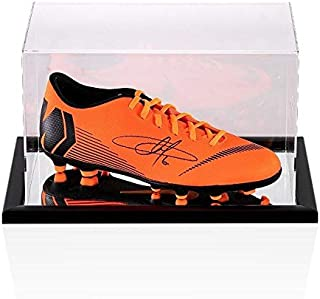 Eden Hazard Signed Football Boot - Orange Nike Mercurial - In Acrylic Display Ca - Autographed Soccer Cleats