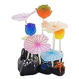 Uotyle Glowing - Flores artificiales de loto para acuario