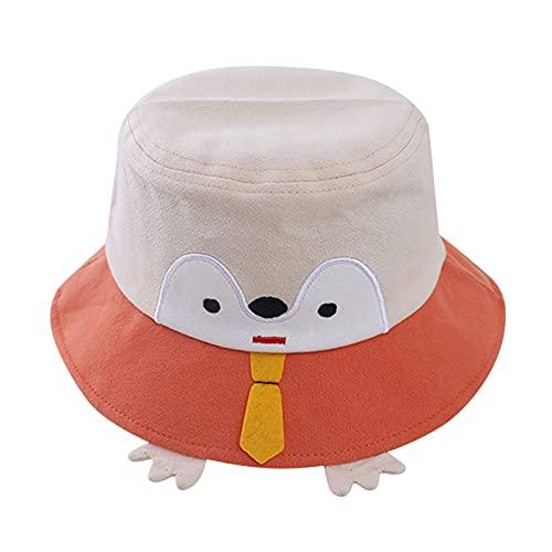 Sombrero infantil para bebé, niña, cubo, con dibujos animados, pingüino, protección solar, para la playa, exterior, bonito sombrero para el sol, Nº 02, Talla única