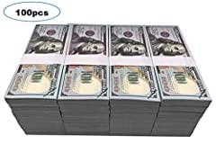 【Realistic Money Stacks】 Double side printed prop movie money, realistic looking, work for movie, cinema, videos, pranks, parties, photography or use for theatre. 【Great Copy Money】Made to look like the real thing. It will not pass as real currency a...