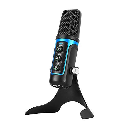 POWER BANKS Spielemikrofon USB Professional Computer Kondensator PC Mikrofon, mit Ständer kompatibel mit Imac PC Laptop Desktop Windows Podcast/Chat,Blau