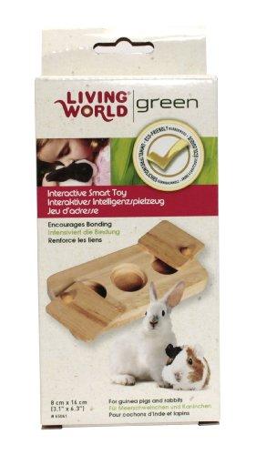 Living World Green interaktives Intelligenzspielzeug -Drehspiel- für Meerschweinchen und Kaninchen