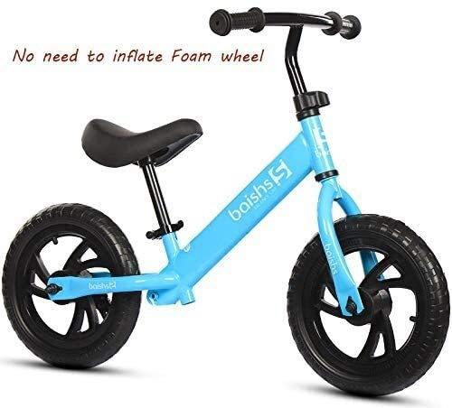 Balance Bike, kein Pedal-Schiebe-Auto-Baby-Kind-Spielzeug-Fahrrad-Kleinkind-Bike Walking Training mit verstellbarem Sitz Leichtbau nicht aufblasbaren Schaum Reifen übersichtlichen Design Leichtbau-Kar