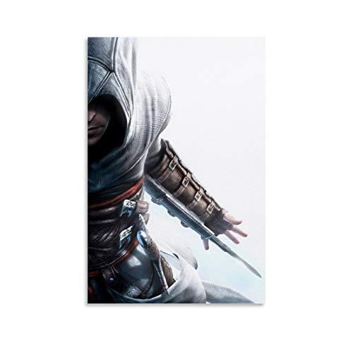 QWKM Póster artístico de Assassin's Creed Altair con hoja oculta y arte de pared, póster moderno para decoración de dormitorio familiar, 60 x 90 cm
