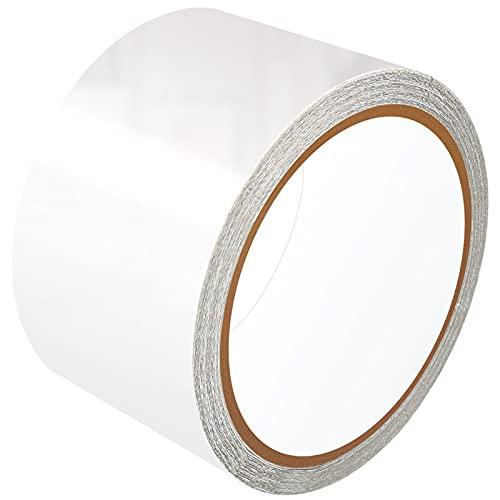 LANUCN Cinta de Reparación de PVC - 5 cm x 5 m, Transparente Parche para Lonas, Cubierta de Remolque, Invernadero, Toldo, Carpa, Tienda Campaña y Persianas