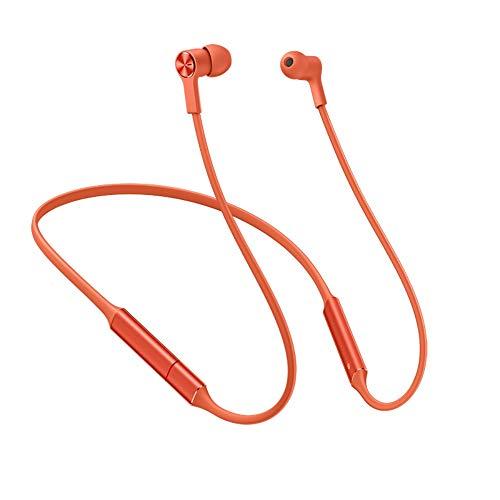 Huawei FreeLace Wireless Earphone HiPair Technology BT5.0 Type-C Fast Charge in-Ear Headphones IP55 Waterproof Smart Magnetic Sport Headset for Huawei Smart Phones Tablets PC [Amber Sunrise]