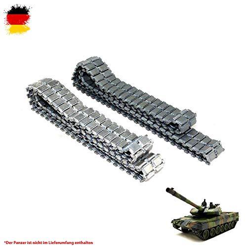 Original Metallketten von Heng Long, Upgrade Kit für RC Panzer u. a. German Leopard 2A6 3889 und 3889-1, Ersatz-Ketten, Tank, RC Modellbau, Kettenfahrzeug, Ersatzteil