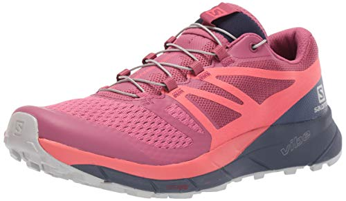 Salomon Women's Sense Ride 2 Trail Running Shoes, Malaga/Dubarry/Crown Blue, 8.5