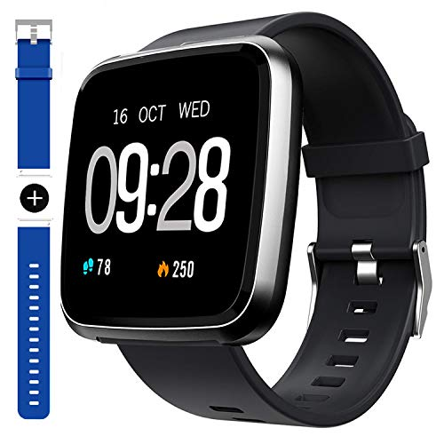 GARINEMAX Smart Watch,Waterproof Smartwatch, Fitness Tracker with Heart Rate,Blood Oxygen, Sleep Monitor,Message Call Reminder Smart Watch for Men Women Kids, Compatible for iPhone/Android