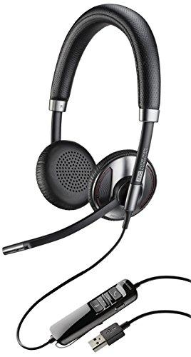 Plantronics 202580-01 - Auriculares de diadema abiertos, con micrófono, control de volumen y respuesta