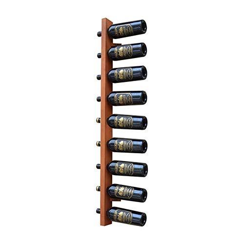 Wijnrek Stevige Constructie|Rustieke Wijnfles Display Rack |Creatieve Muur Mount Eiken Wijn Rack|Drijvende Plank|Wandplank Opslag Organizer Rack|Home Keuken Décor - (Maat: 3x8x120c