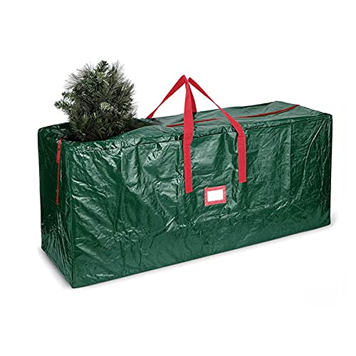 TBUDAR Christmas tree storage bag,Christmas Tree Storage Bag Tear-Resistant Tree Storage Bag Fits 7ft/9ft with Durable Handle, Dual Zippers & Buckle Straps, Rectangle Shape