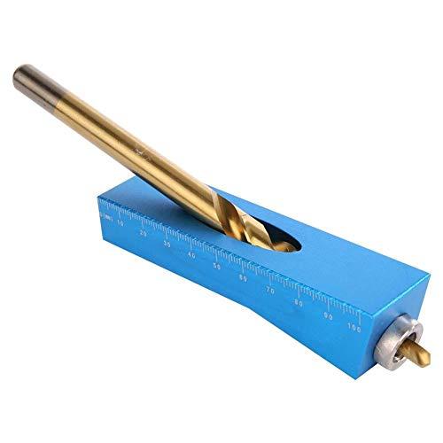 Perforadora vertical, plantilla de bolsillo de mano, perforadora de acero inoxidable, perforadora vertical, mini localizador de orificios para accesorios de perforación, para puertas de