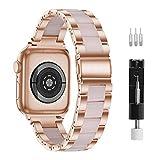 Correa De Reloj, Compatible Con Apple Watch Correa De 38mm-40 Mm Series 6/5/4/3/2/1, Correa De Resina De Apple, Hebillas De Acero Inoxidable Para Hombres Y Mujeres (38mm/40mm, Rosa)