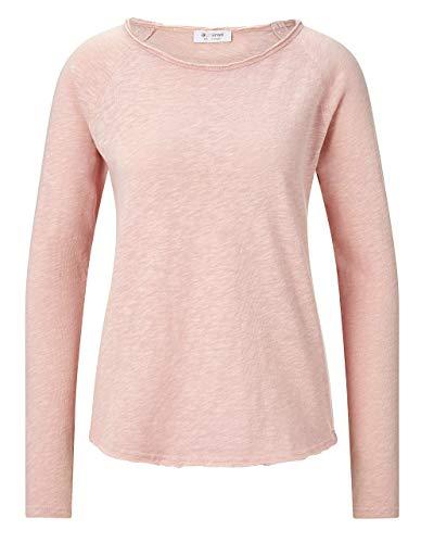 rich&royal Damen Heavy Jersey Longsleeve T-Shirt, Blush pink, M