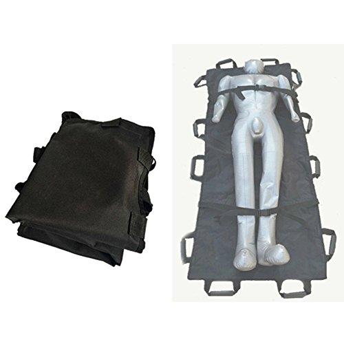 Healthcare Multi-Mover Plus Transfer/Slide Sheet, Plegable Home Portable First Aid Ensanchado Lona Suave Camilla - Negro, 180 × 70Cm