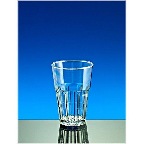 Mehrweg Glas Caipirinha, Cocktail Party Becher, SAN, glasklar, bruchfest, spülmaschinenfest, dt. Fertigung - 300ml, VE 12 Stück