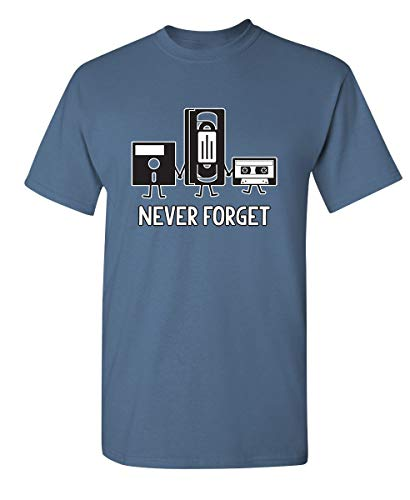 Never Forget Funny Retro Music Mens Novelty Funny T Shirt M Dusk