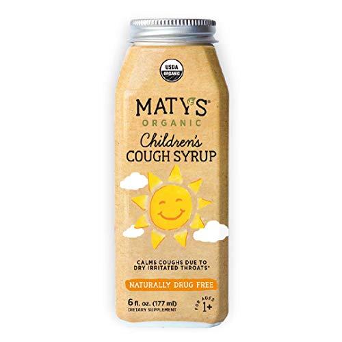 Maty's Organic Children's Cough Syrup, 6 fl oz, With Organic Honey, Lemon & Cinnamon