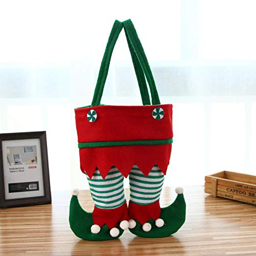 Gallity Christmas Decorations Gift Bags Candy Bags Elf Pants Boots Shoes Candy Cookie Gift Bag Stocking Filler Lovely Treat Bags for Children Wedding Holiday New Year Xmas Party Decorations (B)