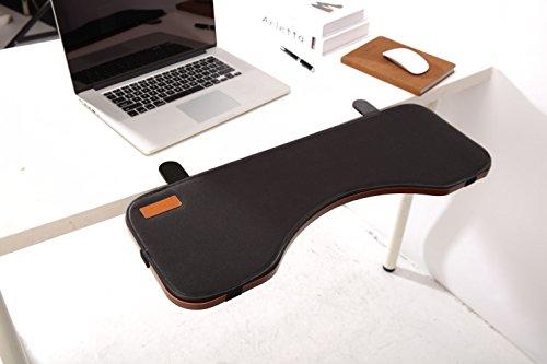 ERGONEER Ergonomische Tastatur-Handgelenkauflage Schreibtisch Extender für zusätzlichen Komfort Typing - Tabelle Mounted Armlehne Regal Elbow Ablageständer Entwickelt, um Kippen und Fold-Down