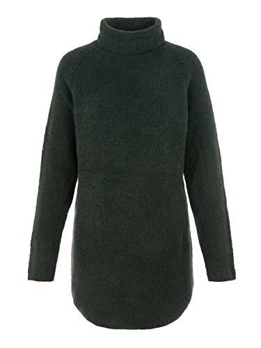 PIECES Damen PCELLEN LS Long Knit NOOS Pullover, Duffel Bag/Detail:CP, L