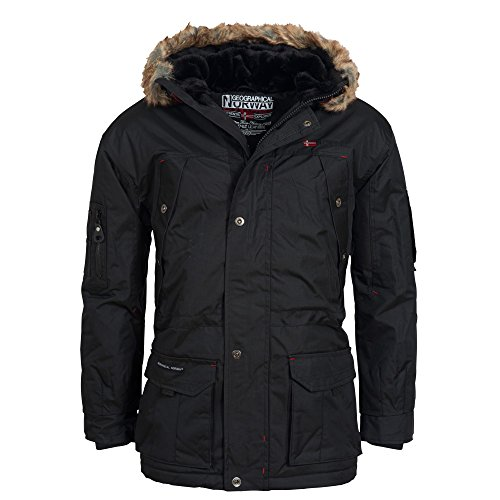 Geographical Norway Atlas Herren Winter Jacke Parka Parker Schwarz Gr. L