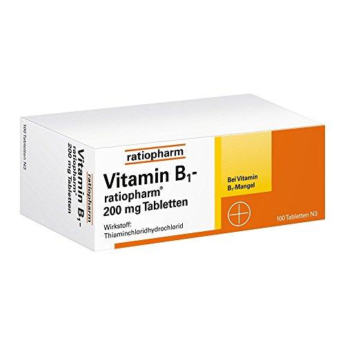 Vitamin B1 ratiopharm 200 100 stk