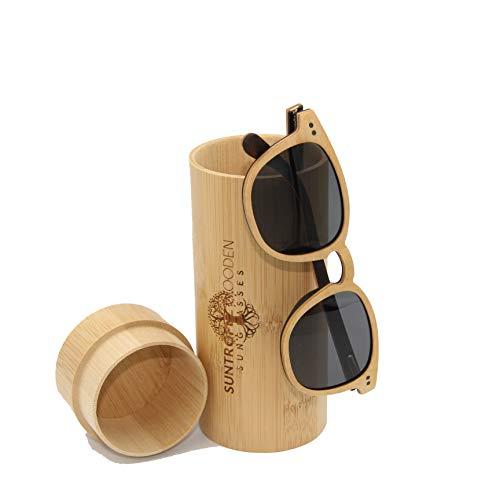 GAFAS DE SOL DE MADERA, Gafas de sol de madera polarizadas, Gafas de marco de madera ecológicas hechas a mano, Gafas de sol Unisex para hombres y mujeres de madera real