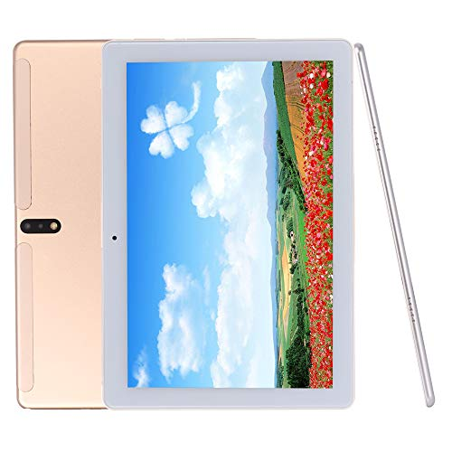 Android Tablet 10 Inch, Android 9.0 Go Unlocked Tablet PC with SIM Card Slots, 4G Phone Support, Deca-Core, 2.8GHz, 64GB, 5MP+13MP Dual Camera, WiFi, GPS (Gold)