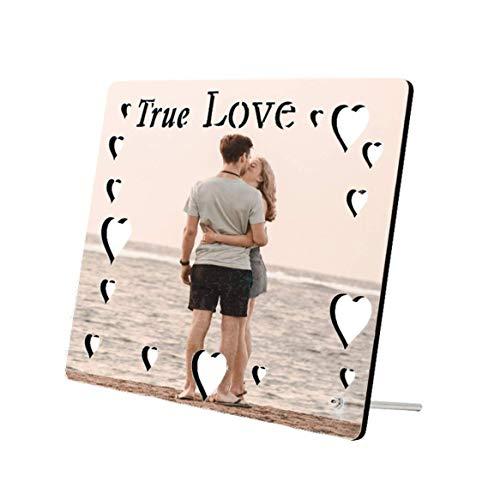 Marco De Fotos True Love Personalizable Medida 20x27cm. con Tu Texto Imagen Nombre. Varios tamaños y Formas Disponibles Regalo Original