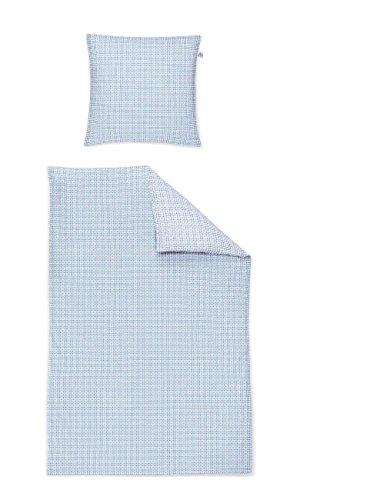 Irisette Mako Satin Bettwäsche 2 teilig Bettbezug 135 x 200 cm Kopfkissenbezug 80 x 80 cm Capri 332297-20 Bleu