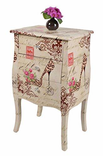 ts-ideen GmbH Mobiletto Design Vintage Antique Francese con Motivo Pumps