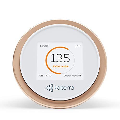 Kaiterra Laser Egg+ Chemical: Qualitätsmonitor für Innenräume (zeichnet PM2.5, Feinstaub, VOC, Temperatur und Luftfeuchtigkeit auf)