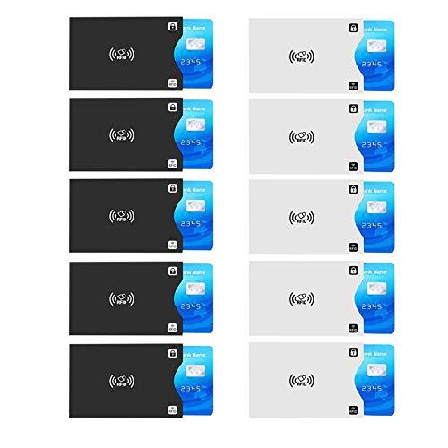 EasyULT RFID Blocking NFC Envoltura Protectora, Tarjetero Metálico para Tarjetas de Crédito con 6 Ranuras, para Tarjetas de Crédito, Anti-Robo Protector de Prueba de Agua Titular Seguro-Negro
