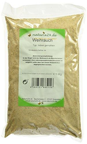Naturix24 Weihrauchpulver, Weihrauch indisch, 1er Pack (1 x 1 kg)