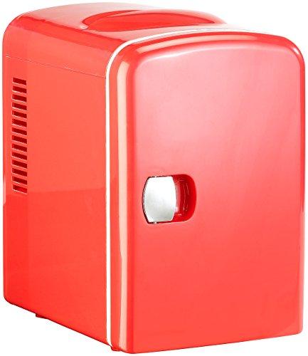 Rosenstein & Söhne Mini Dosen Kühlschrank: Mini-Kühlschrank mit Warmhalte-Funktion, 4 Liter, für 12/230 Volt, rot (Kühlschrank klein)