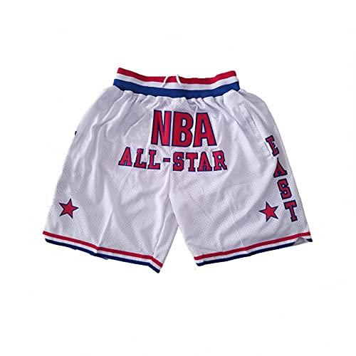 FGHFG Pantalones Cortos de Baloncesto para Hombres, Pantalones Cortos de Malla Transpirable de Moda Juvenil, Pantalones Cortos Deportivos y Deportivos(06,XXL)