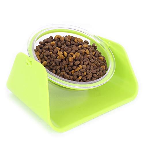 CarittiM Cuenco elevado separable para perros, cena saludable, alimentación elevada, apto para lavavajillas, seguro para mascotas, gatos y cachorros.