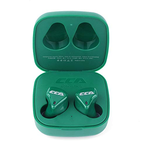 Linsoul CCA CX10 1DD+4BA True Wireless TWS Hybrid in-Ear Monitors with Bluetooth 5.0 AAC Support, Low Latency for Audiophile/Game (Green)