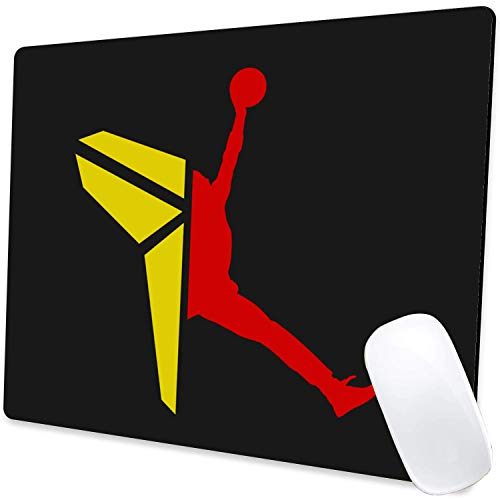 Gaming Mouse Pad,Kobe x Jordan Mouse Pad Non-Slip Rubber Base Mouse Pads for Computers Laptop Office,9.5'x7.9'x0.12' Inch(240mm x 200mm x 3mm)