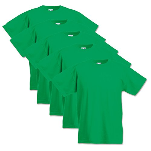 5 Fruit of the loom Kinder T-Shirts Valueweight 104 116 128 140 152 Diverse Farbsets auswählbar 100{5979cc47b9fdf2c6be620637d0facbf3dd9b2aa935a879f3ca93875dc534d4ab} Baumwolle (104, Maigrün)