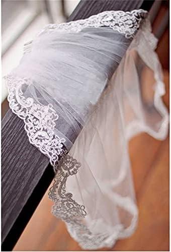 XKMY Wedding Flower Girl First Communion Veil Children's Applique Lace Tulle Veil Tulle (Color : White)